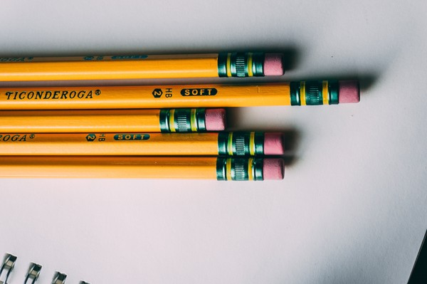 2 PENCILS  WITH ERASERS  New  LOT OF 72 NO