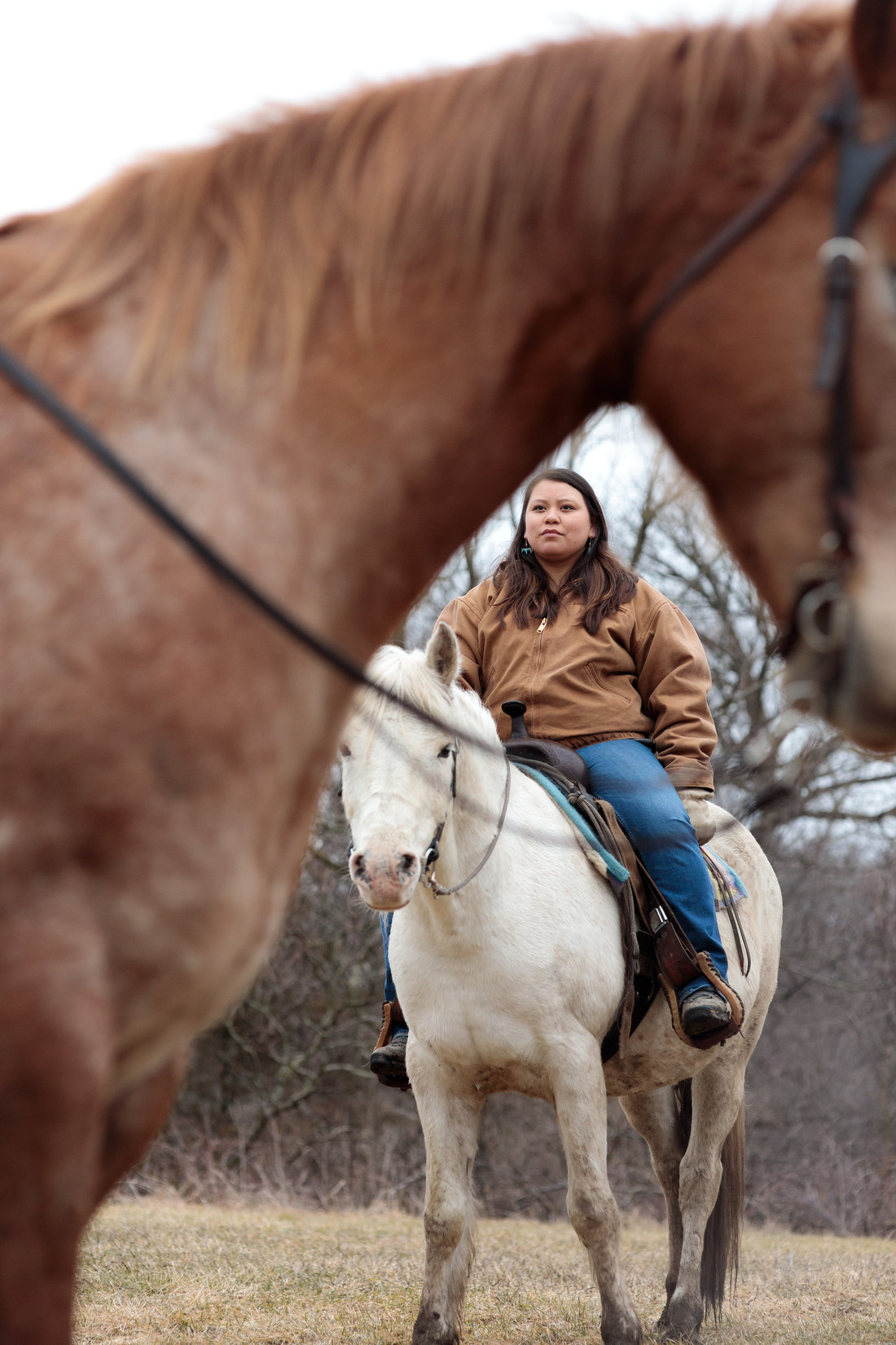 Vanessa Goodthunder on horseback