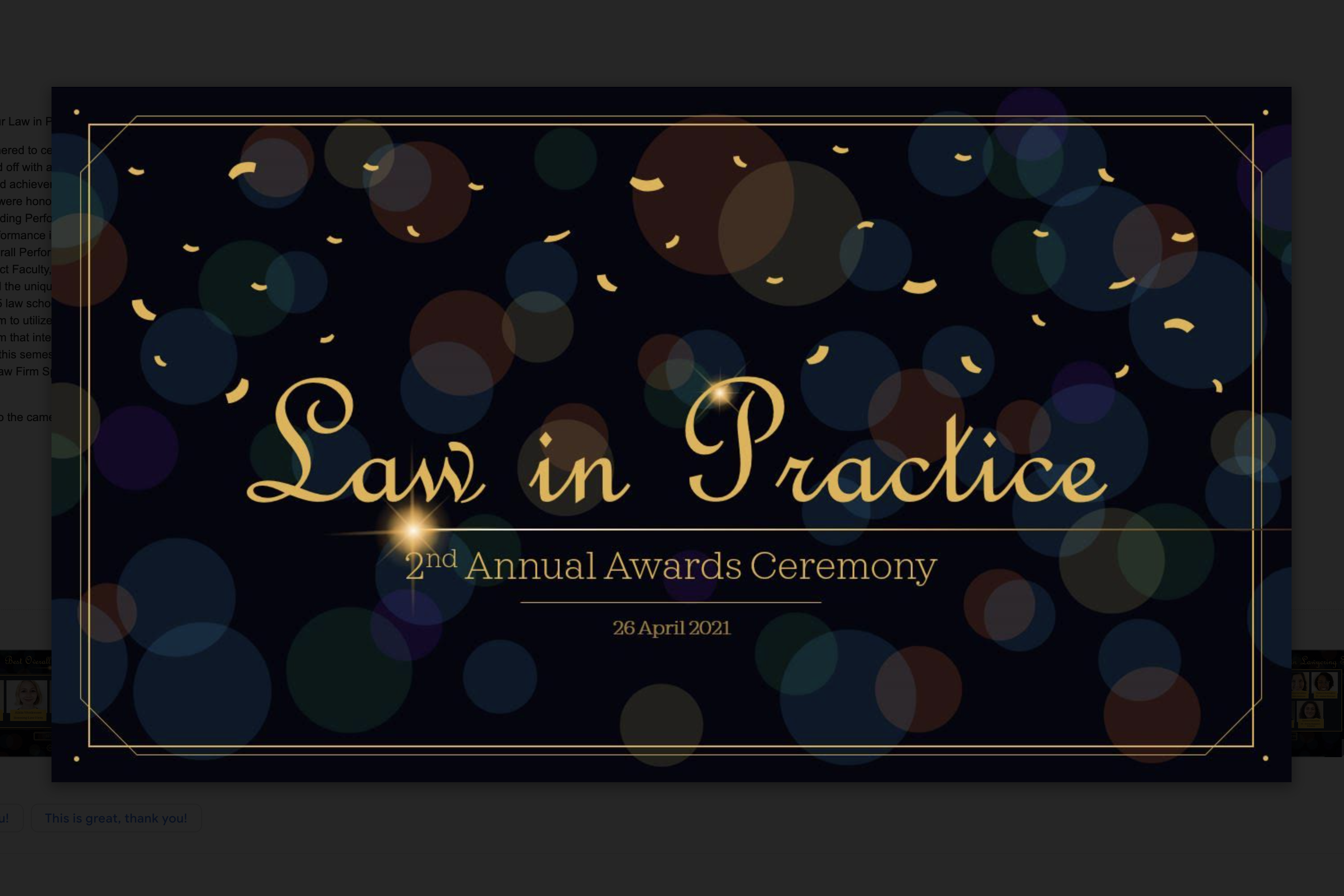 Law in Practice Holds its 2nd Annual LiPPY Awards
