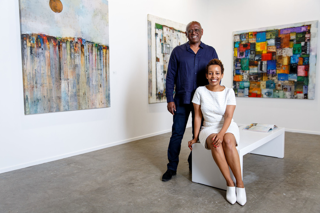 Mesai Haileleul and Rakeb Sile, founders of Addis Fine Art