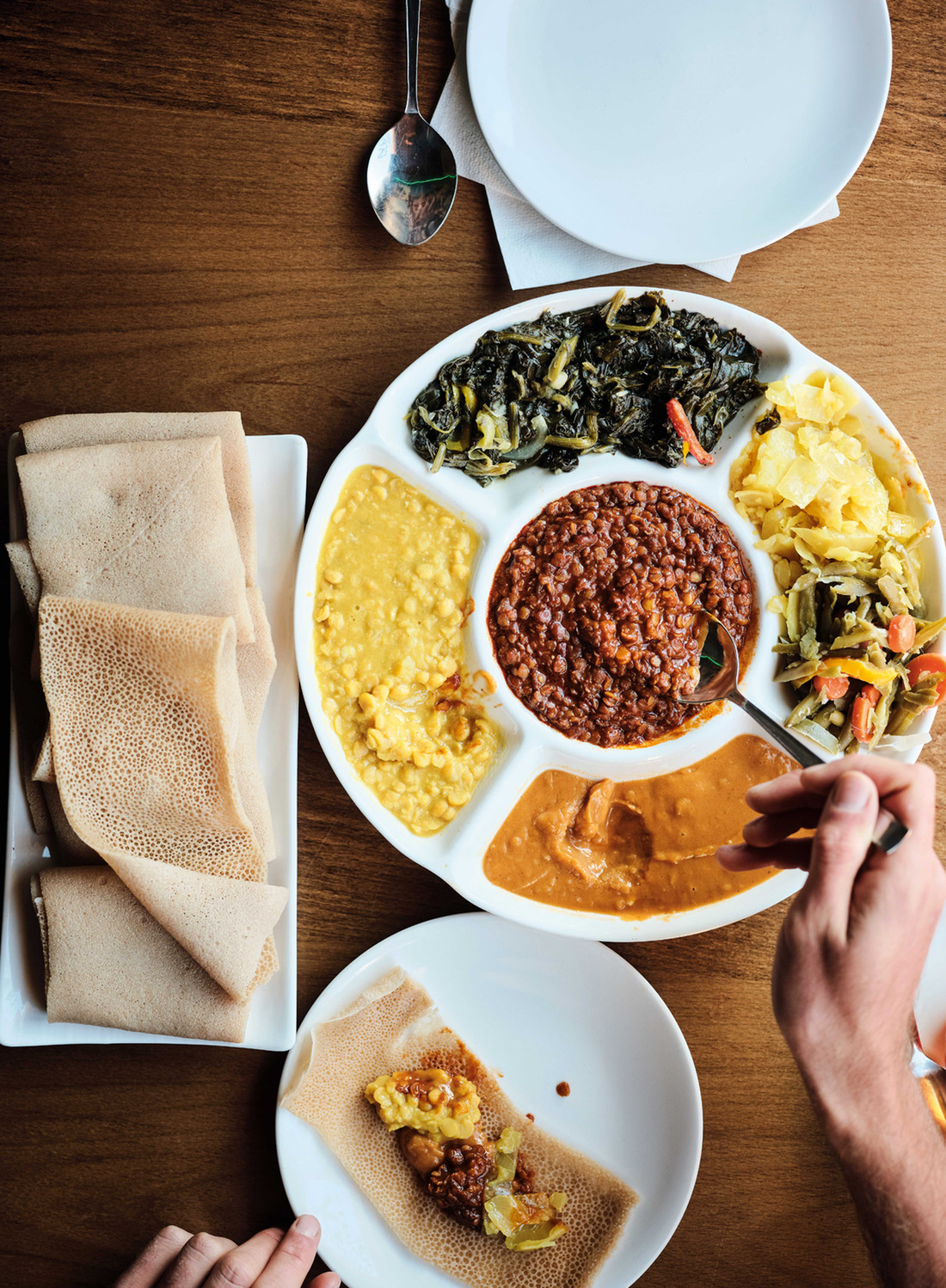 traditional Ethiopian food at Andu Cafe