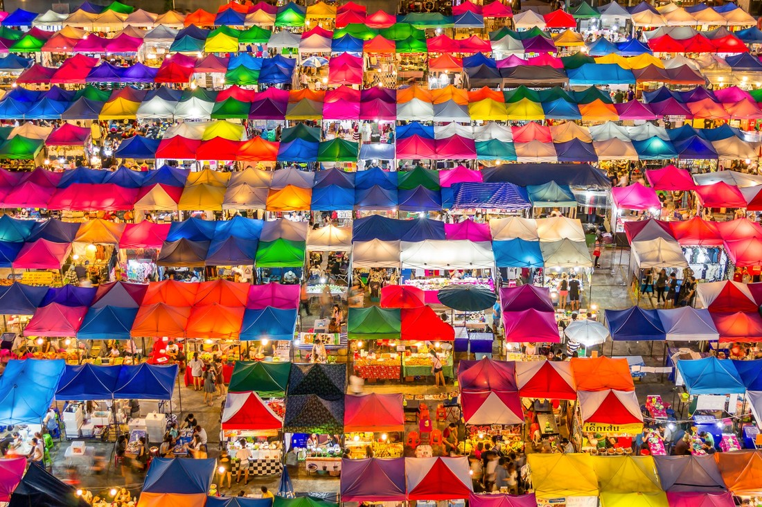 Outdoor Markets in Bangkok
