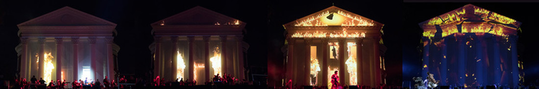 Projection Mapping Progression of the Great Rotunda Fire of 1895