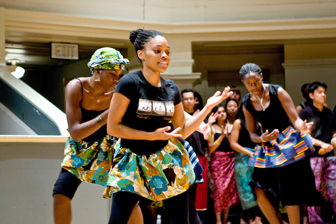 African music and dance ensemble dancers