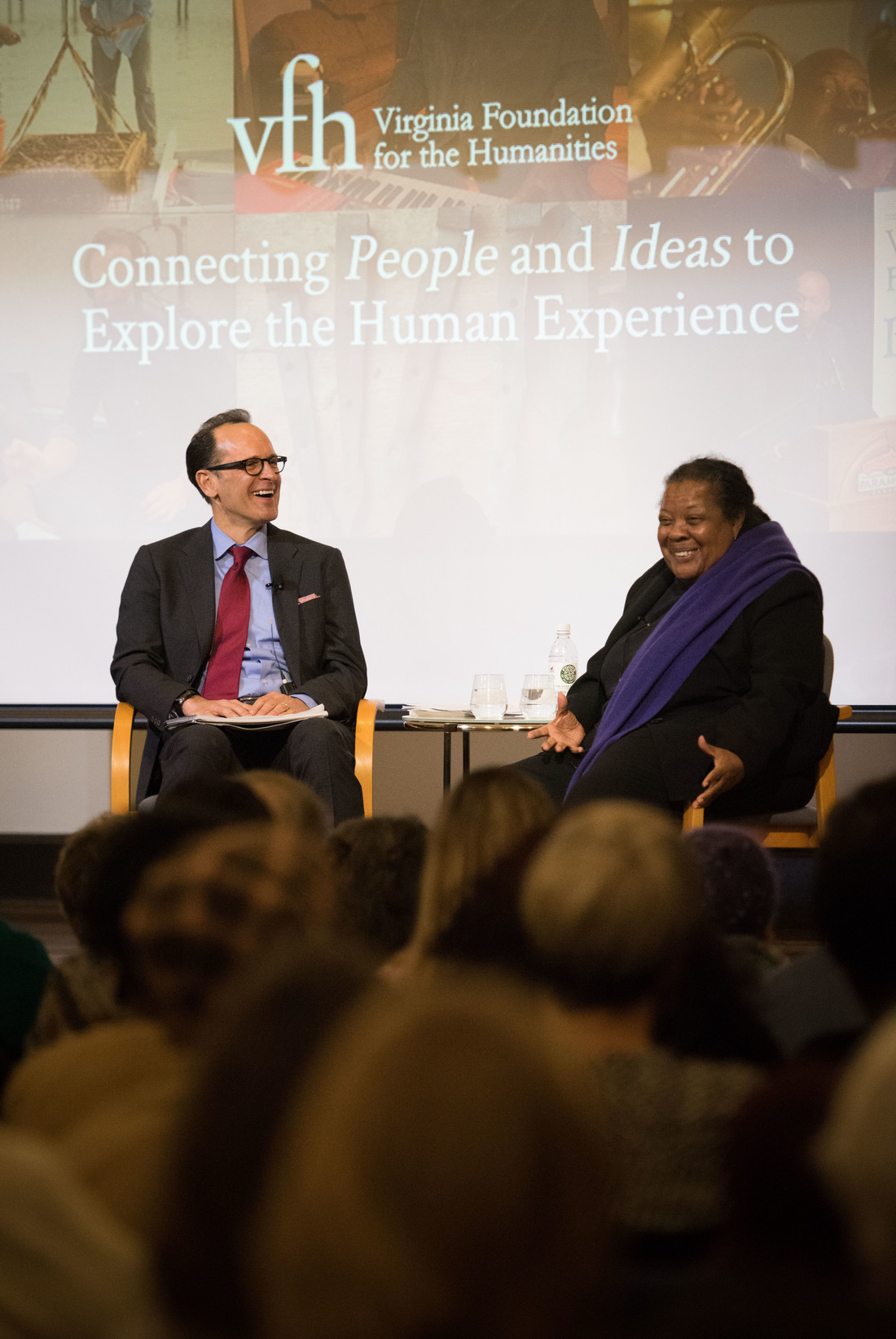 Civil rights icon Ruby Sales and Charles Marsh, Professor of Religious Studies, engage in a public conversation at the Jefferson School African American Heritage Center.