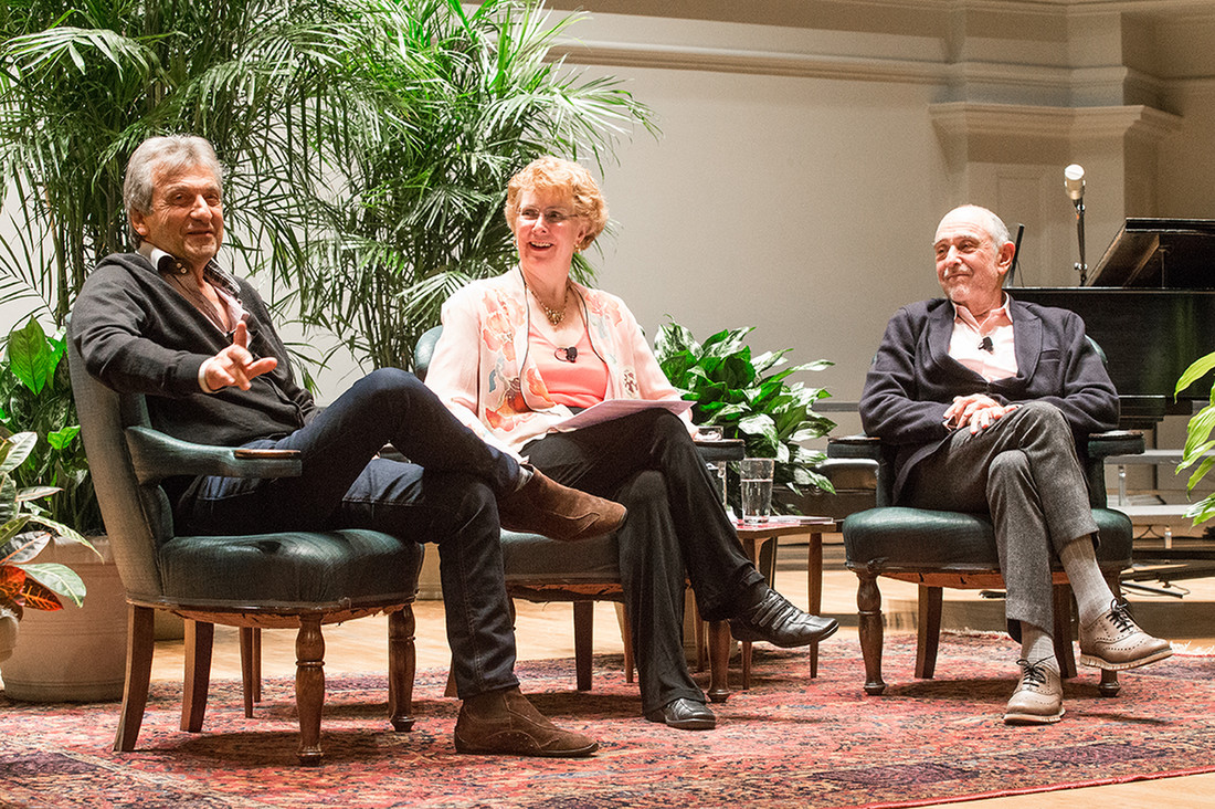 Funds from the Arts Endowment supported a three-day residency with composer Claude-Michel Schönberg and lyricist Alain Boublil in February 2017, during which the artists spoke to the University and broader Charlottesville communities about their creative process, moderated by Professor Emeritus Marva Barnett.